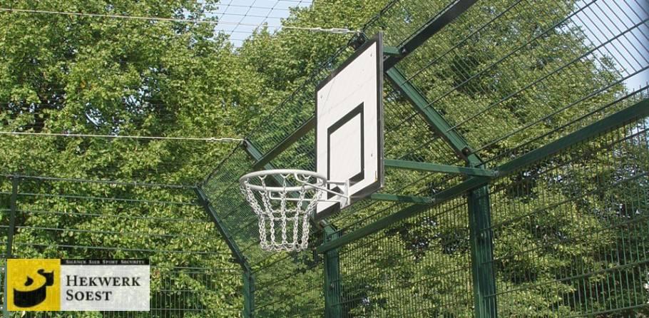 voetbalkooi met basketbalbord - hekwerk soest b.v.
