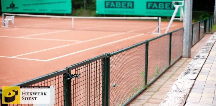 tennisbaanafrastering looppoort - hekwerk soest b.v.