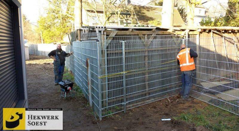 Hekwerk wordt geplaatst door onze ervaren hekwerk-monteurs - hekwerk soest bv