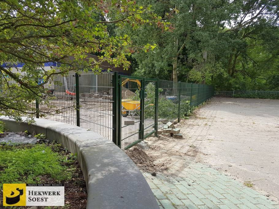 dubbelstaafmat hekwerk project augustus 2017